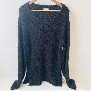 Calvin Klein black fuzzy sweater XL